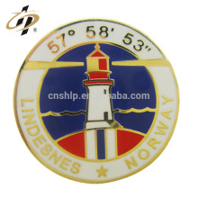 Wholesale custom design promotional cheap magnetic enamel badge clip buttons safety lapel pin