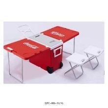 Silla y Mesa Campmaster 28L Nevera Congelador, Caja Refrigeradora de Plástico