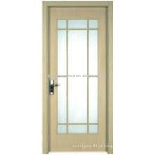 Fieber diseño de puerta de baño con vidrio