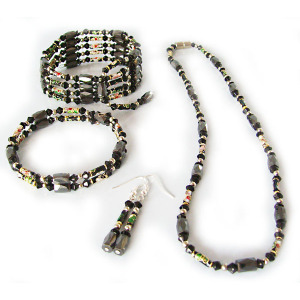 Hematite Set Colorful Jewelry