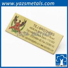 Этикетки продуктов металла для одежд или двери