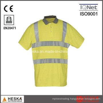 Hivis Knitted Reflectivetape Polo Shirt