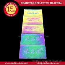 Пользовательские дешевые красочные Светоотражающий кожа патч этикетки