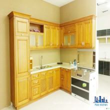 American Style Modular Solid Wood Kitchen Cabinets
