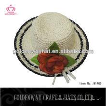 Papier Strohhut Floppy Sun Hüte zu dekorieren
