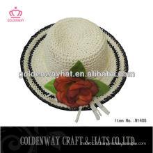 Chapeau de chapeau en paille en caoutchouc souple pour décorer