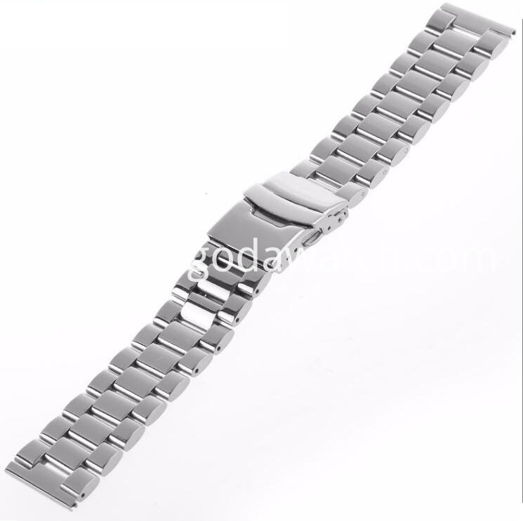 Solid Metal Watch Bracelet