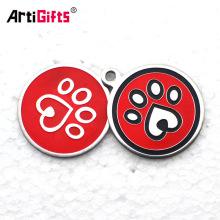 Custom wholesale bulk cheap laser engraved metal aluminium blank round dog tags
