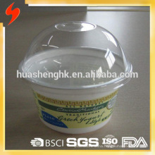 Factory Price Food Grade Clear Plastic Disposable 8oz/230ml smoothie cups with lids for wholesale