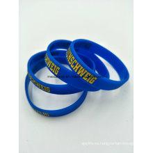 Brazaletes de encargo del silicón, pulseras del silicón para los regalos de la promoción