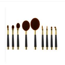 Professional 9PCS Golf Club Shaped Foundation Oval Makeup Brush
