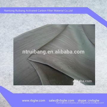 tipo de pano de fornecimento de Fibra De Carbono Ativado tecido BET100-1500g / m2 para uso médico