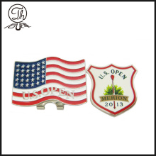 US metal golf ball markers for hats