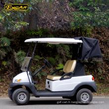 Excar mini voiture de golf avec couverture de sac de golf