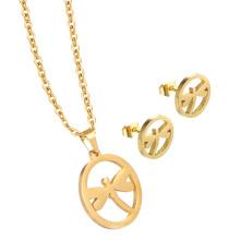 Schöne personalisierte Charm Halskette Schmuck Set Gold Halskette und Anhänger für Frauen