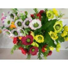 La fleur artificielle avec le rabat de sac décorer