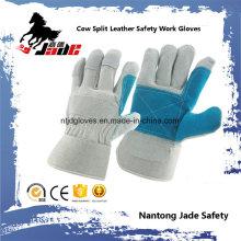 Gant de travail de sécurité industrielle doux Palm Cow Split Leather