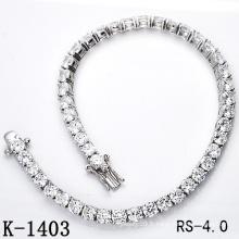 Bracelet Hotsale Fashion Jewelry 925 Sterling Silver Tennis (K-1403, K-1404, K-1405, K-1406, K-1407, K-1408)