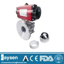 3A Pneumatic Sanitary tank bottom ball valve