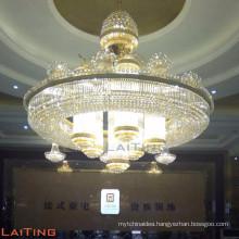 Huge size crystal ceiling hall lighting church chandelier