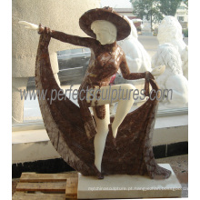 Pedra mármore escultura estátua escultura para decoração de jardim (SY-C1171)