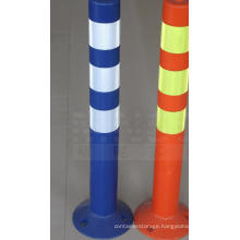 PU Upright Column Plastic Traffic Sign, Road Safety Barrier