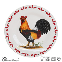 Chicken Ceramic Porcelain Round Plate