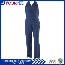 Cotton Drill Heavyweight Womens Workwear Sleeveless Overalls (YBD120)