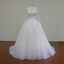 Трапеция для новобрачных платья бисером кружева (XF16031)
