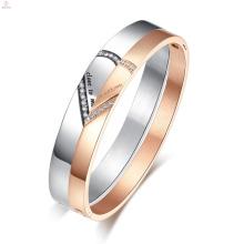 Nom personnalisé Bracelet coeur en acier inoxydable en acier inoxydable Bracelet personnalisé gravé