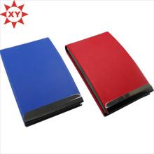 Деловая кожаная визитница для пары, синяя и красная визитница
