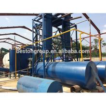 CAP-6T / D, o Tamanho do reator é D2200 * L6000mm, profissional usado fábrica de pirólise de borracha para óleo