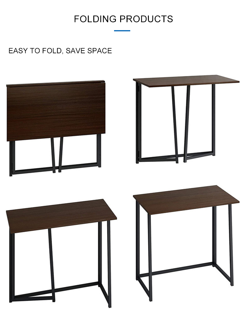 Folding Table Desk With Cross Supporting Design Port