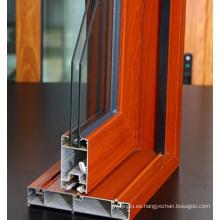 Perfil de ventana de aluminio de aluminio superior de la puerta
