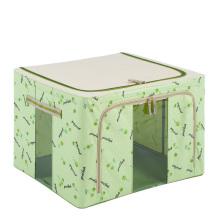 Sac de rangement en nylon vert pliant boîte de rangement étanche (HX-W002S)