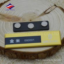 Emballage en métal magnétique métallique haut de gamme avec logo