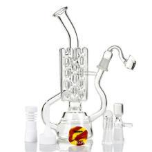 Труба с сетчатой трубчатой трубой с сетчатым трубопроводом для прохода стеклянной дымовой трубы для воды (ES-GB-418)