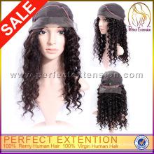 For Girls Medium Length Natural Black Mongolian Kinky Hair Wigs Fashion Curly
