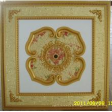 Plafonnier artistique décoratif de Bourgogne et doré Bracade Dl-1114-15