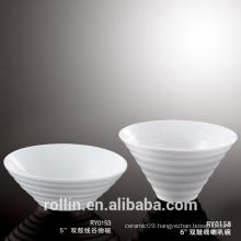 Wholesale Restaurant Dinnerware Set Porcelain Salad Bowl White Soup Bowl With Custom Logo