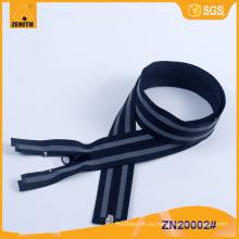 Reflector Zipper-Best caliente venta de accesorios de prendas de vestir para la cremallera fábrica ZN20002
