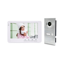 Simple and High Quality Plastic 7 Inch Color Screen AHD Video Door Intercom System With Metal Outdoor Unit