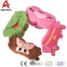 100% cotton Animal cartoon design baby hooded blanket