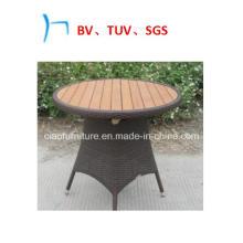 Outdoor Furniture Round Rattan Teakwood Table (2042)