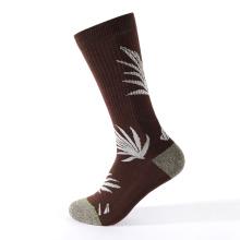 calcetines de compresión con patrón de jacquard con aguja de tejer