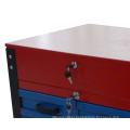 26-Inch Professional 6 Drawer Auto Parts Rolling Tool Cabinet (Blue and Red)