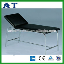 Stainless steel hospital examination couch with backrest adjustable
