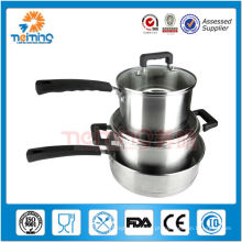 Pote de cozinha profissional de aço inoxidável 6pcs