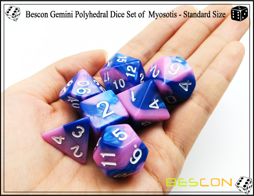 Bescon Gemini Dice Set of Myosotis-2