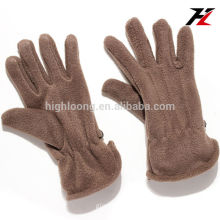 Simple brown fleece gloves with cheap bottom price